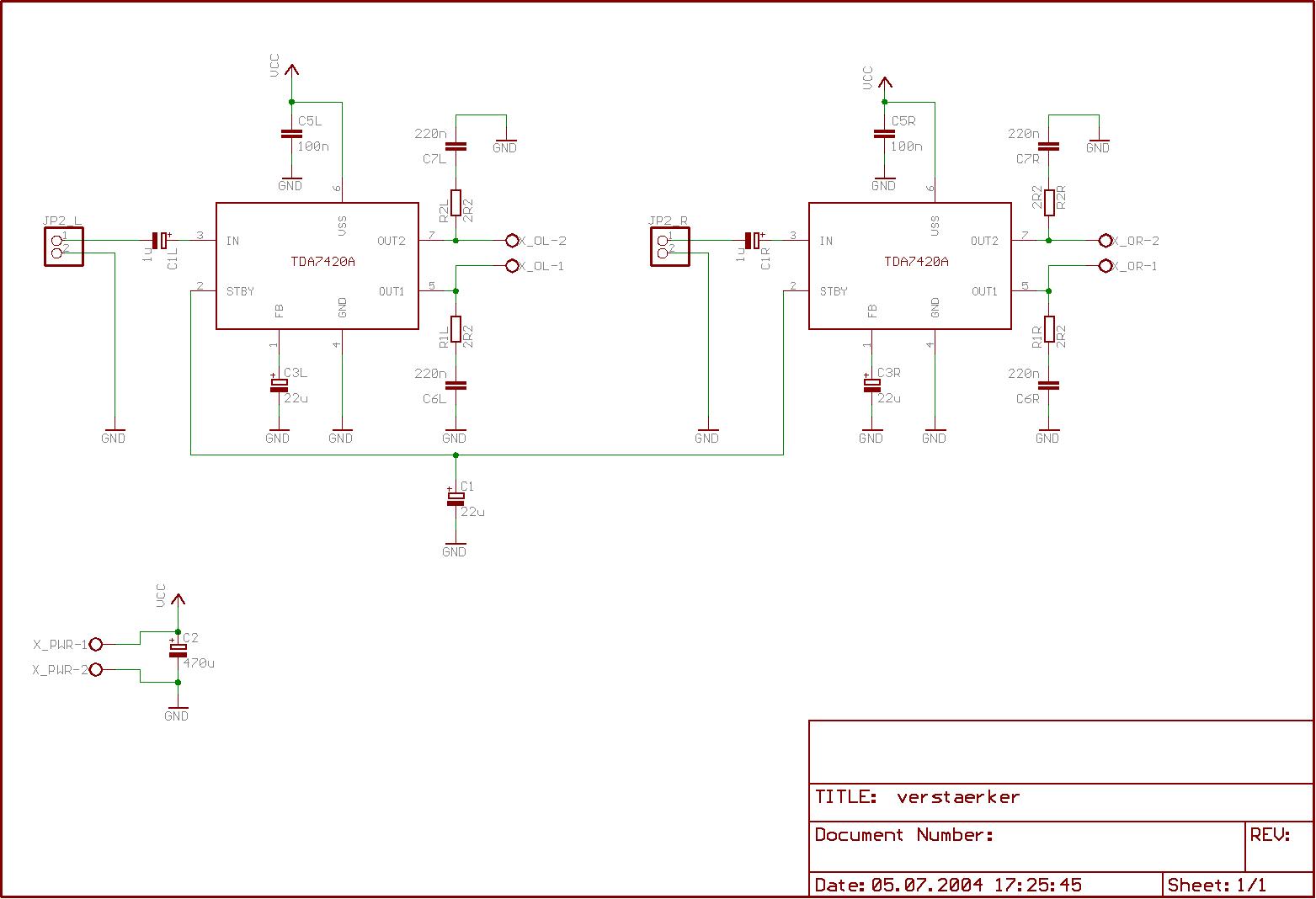 Amplifier Schematics