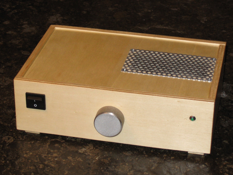 The completed Amplifier