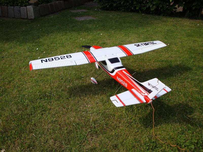 Rückansicht der Cessna