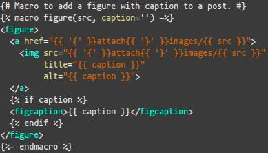 Screenshot of the original code of the macro to embed figures in posts.
